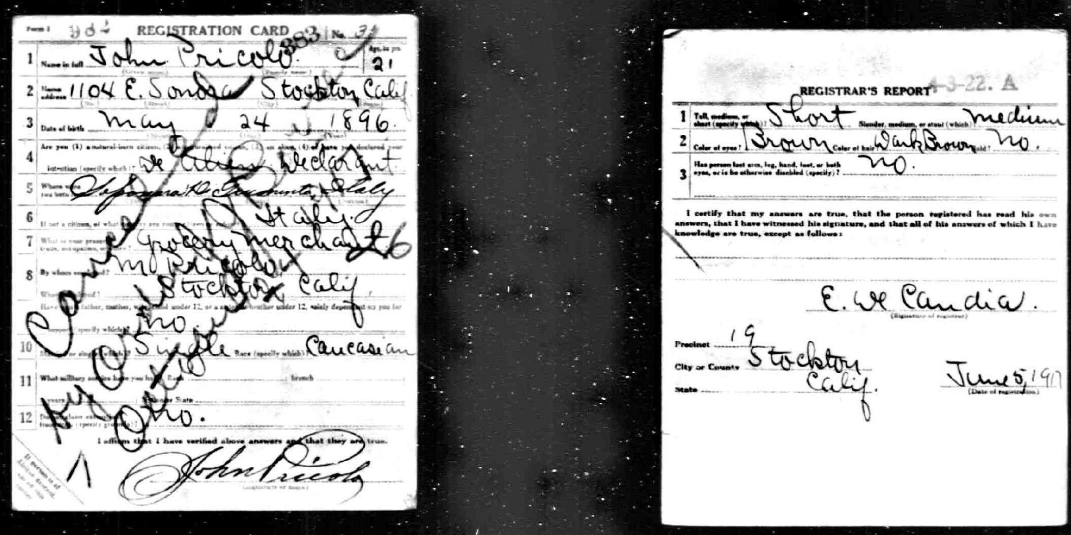 Italiangenealogy pricolo johns cancelled 1917 card aiddatafo Gallery